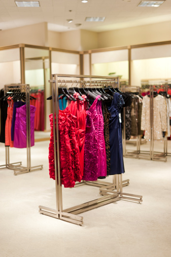 Evening Gown「A rack of designer formal dresses in a high-end boutique.」:スマホ壁紙(15)