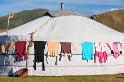 Orkhon Valley「Washing drying on Ger, Orkhon Valley」:スマホ壁紙(0)