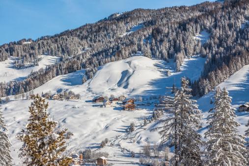 Ski Resort「Italy, Dolomites, View of Alta Badia in La Villa」:スマホ壁紙(5)