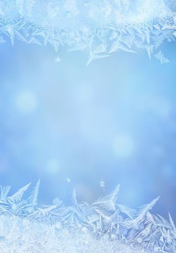 Floral Pattern「Ice flower frame on glass」:スマホ壁紙(16)