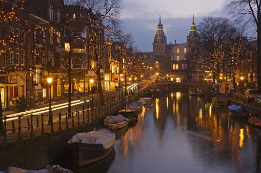 Amsterdam「Beautiful view of Amsterdam at night」:スマホ壁紙(12)