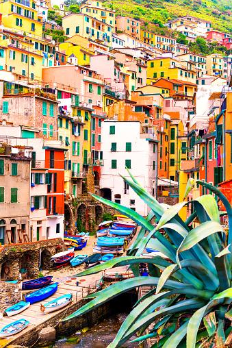Cinque Terre「Beautiful view of Riomaggiore」:スマホ壁紙(17)