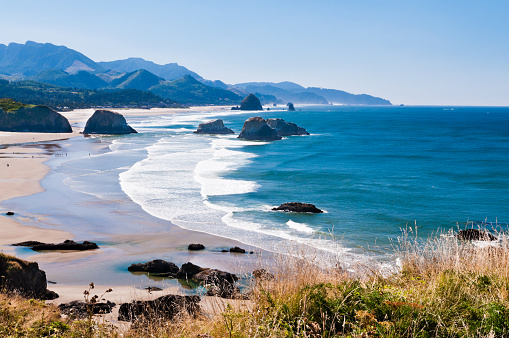 Cannon Beach「Beautiful view of Cannon beach in the Oregon coast」:スマホ壁紙(1)