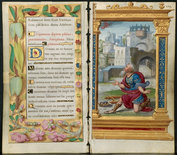 Nice - France「Adjoining Leaves From A Book Of Hours: Penitential Psalms And King David In Prayer...」:写真・画像(7)[壁紙.com]