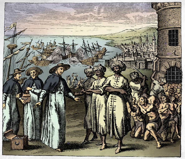 17th Century「Dominican Priests ask for the liberation of Christian slaves in Algeria (17th century illustration)」:写真・画像(17)[壁紙.com]