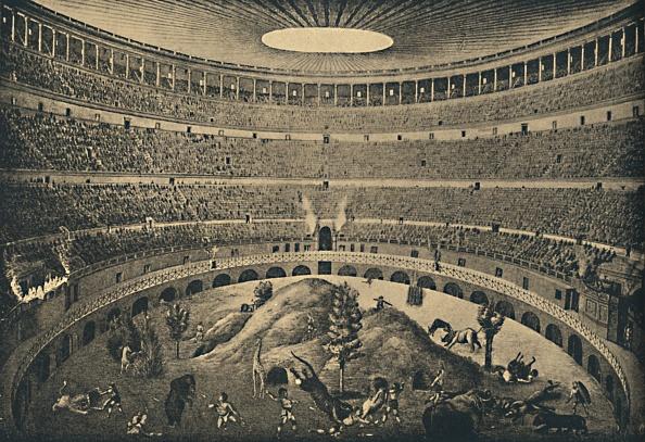 動物「Roma - Colosseum - Reconstruction Of A Hunt Of Wild Animals 1910」:写真・画像(11)[壁紙.com]