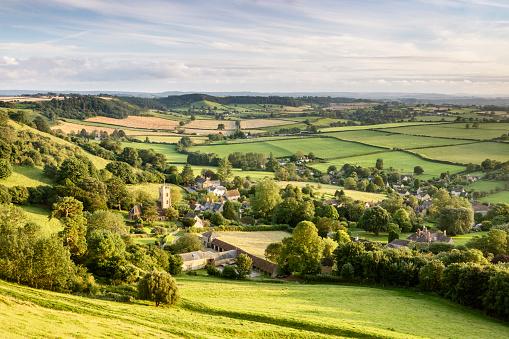English Culture「The village of Corton Denham in Somerset, England.」:スマホ壁紙(12)