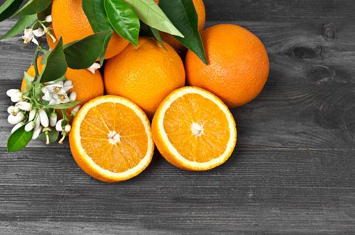 Orange - Fruit「Freshness Orages and Blossoms」:スマホ壁紙(12)