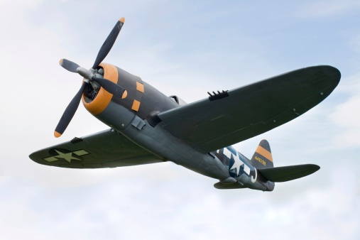 Thunderstorm「Airplane P-47 Thunderbolt from World War II」:スマホ壁紙(1)