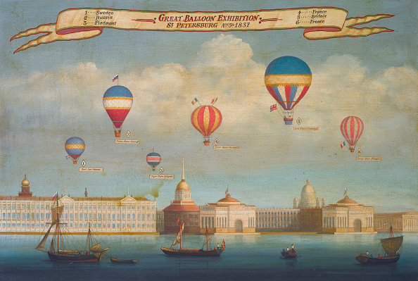 気球「The Great Balloon Exhibition St Petersburg C 1837」:写真・画像(3)[壁紙.com]