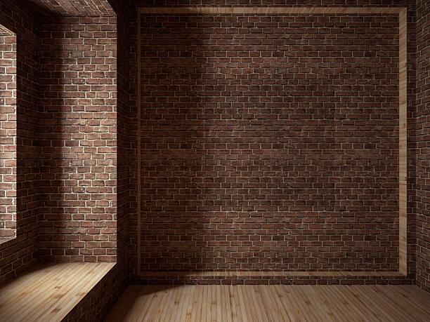 Empty room, 3D render:スマホ壁紙(壁紙.com)