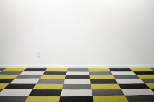 Checked Pattern「Empty Room With Checkered Carpeting」:スマホ壁紙(17)