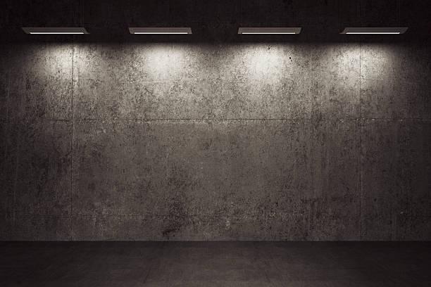 Empty room, concrete walls and floor:スマホ壁紙(壁紙.com)
