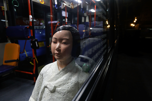 Seoul「Seoul Bus Runs With 'Comfort Woman' Sex Slave Statue Ahead Of Liberation Day」:写真・画像(18)[壁紙.com]