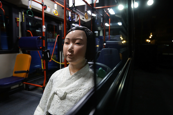 South Korea「Seoul Bus Runs With 'Comfort Woman' Sex Slave Statue Ahead Of Liberation Day」:写真・画像(16)[壁紙.com]