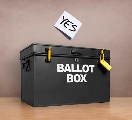 Voting Ballot「YES vote poised above the ballot box」:スマホ壁紙(8)