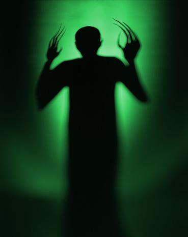 zombie「Halloween Spooky Green Alien Vampire」:スマホ壁紙(5)