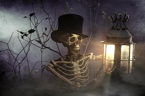 zombie「Halloween skeleton」:スマホ壁紙(17)