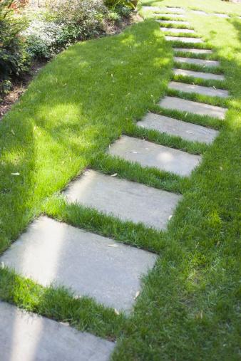 Paving Stone「Stone walkway on lawn」:スマホ壁紙(7)