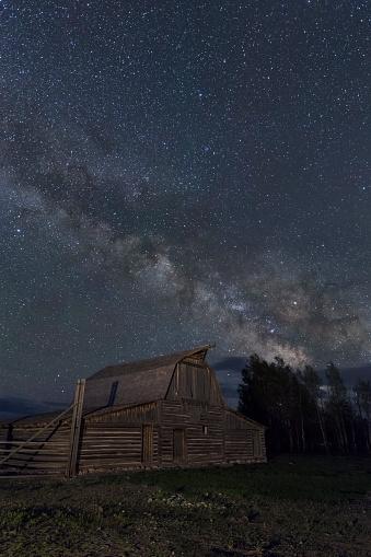 神秘「The Milky Way above Antelope Flats, Wyoming」:スマホ壁紙(7)