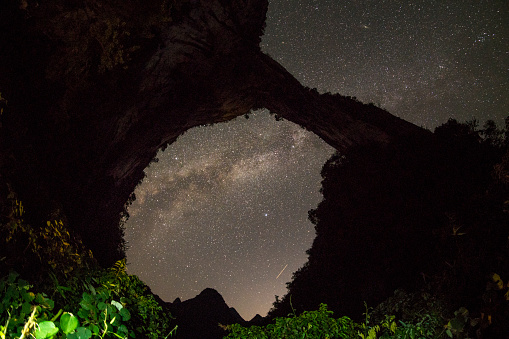 Guilin Hills「The Milky Way's photo was taken in karst cave, guilin, China」:スマホ壁紙(5)