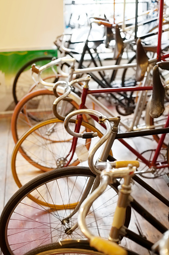 Mechanic「Bicycles parked in a bike shop」:スマホ壁紙(6)