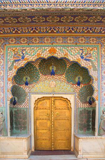 Rajasthan「View of artistic doors.」:スマホ壁紙(8)