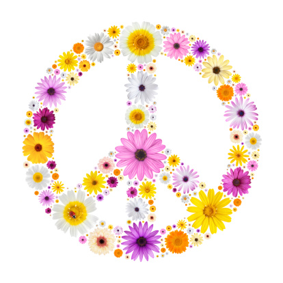 Symbols Of Peace「Peace symbol made from flowers」:スマホ壁紙(4)