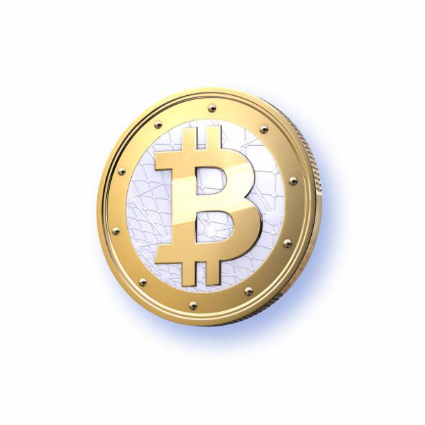 Stylized  Bitcoin on white background:スマホ壁紙(壁紙.com)