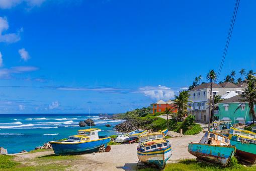 Barbados「Boats by the water at Tent Bay, Barbados」:スマホ壁紙(2)
