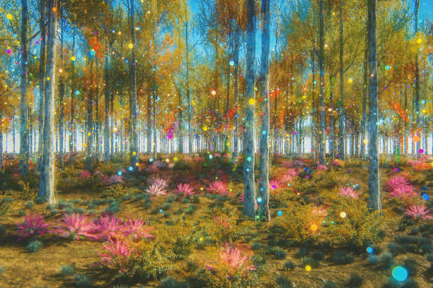 Fantasy forest:スマホ壁紙(壁紙.com)
