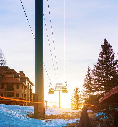 スノーボード「テルライド スキー リゾート ゴンドラ」:スマホ壁紙(1)
