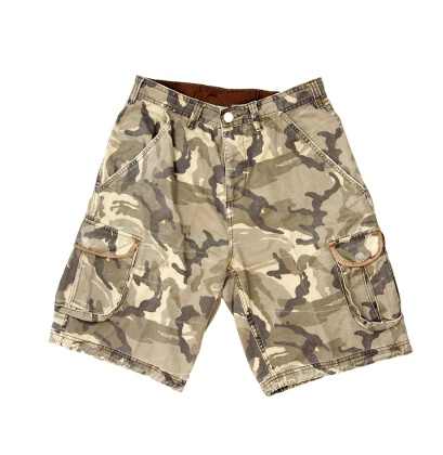 ミリタリー「Shorts with military pattern isolated on white」:スマホ壁紙(19)