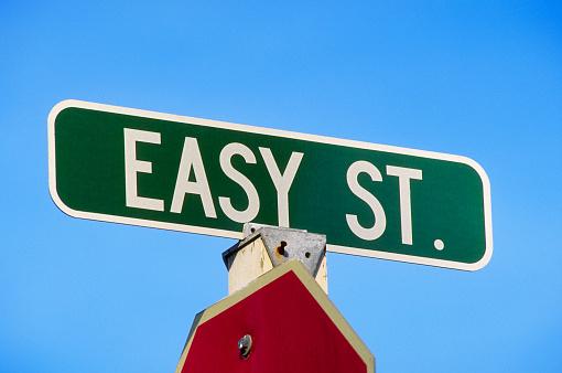 Economic fortune「Easy Street Sign」:スマホ壁紙(1)