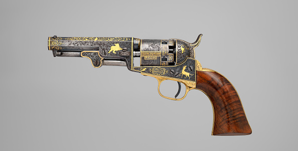 Model - Object「Gold-Inlaid Colt Model 1849 Pocket Revolver (Serial No. 63306)」:写真・画像(14)[壁紙.com]
