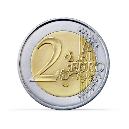 Number 2「Two Euro coin (+clipping path)」:スマホ壁紙(16)