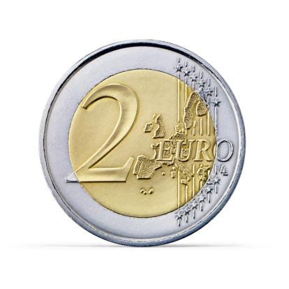 European Union Coin「Two Euro coin (+clipping path)」:スマホ壁紙(14)