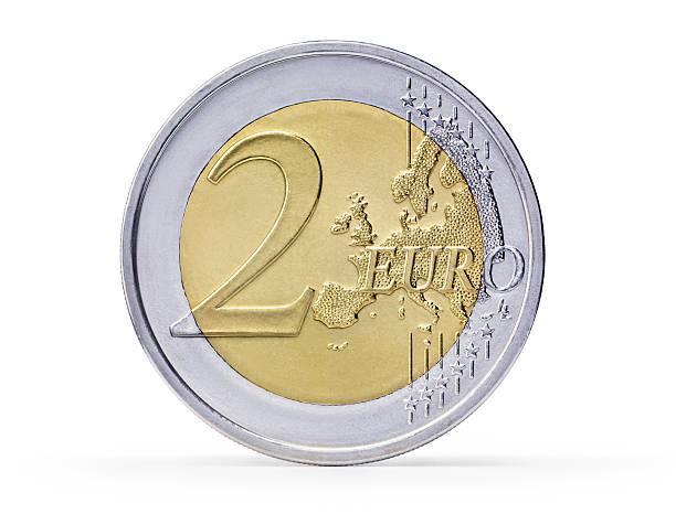 Two Euro coin (+clipping path):スマホ壁紙(壁紙.com)