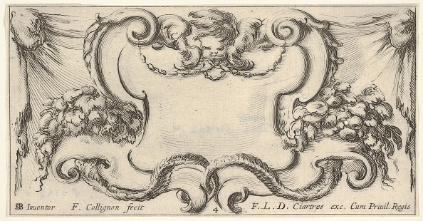 Etching「Plate 4: A Cartouche With The Head Of A Cherub At Top Center」:写真・画像(3)[壁紙.com]
