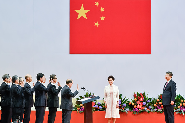 Politics「Xi Jinping Visits Hong Kong For 20th Anniversary Of The City's Handover」:写真・画像(9)[壁紙.com]