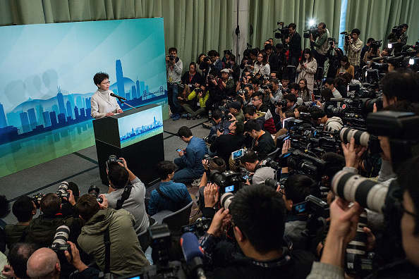 Lam Yik Fei「Hong Kong's Chief Secretary Carrie Lam Runs For Chief Executive」:写真・画像(8)[壁紙.com]