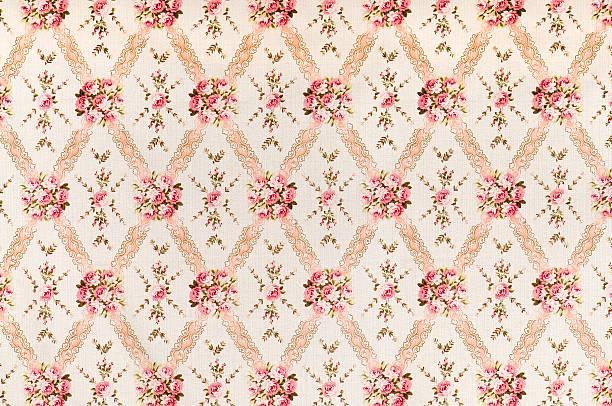 Pink Meadow Medium Antique Floral Fabric:スマホ壁紙(壁紙.com)