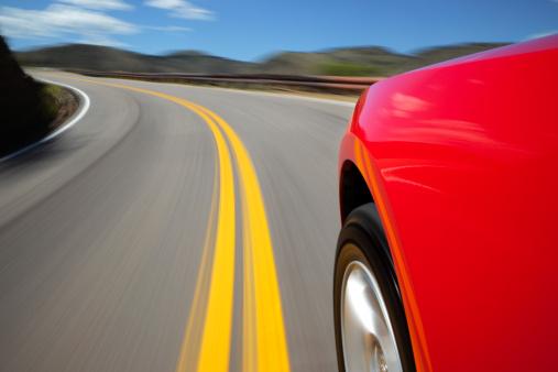 Sports Car「Mountain Road Speeding Car.」:スマホ壁紙(18)