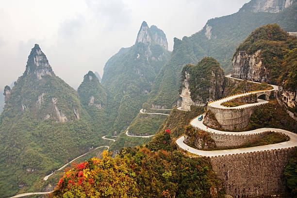 Mountain road, China:スマホ壁紙(壁紙.com)