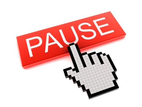 Digital Composite「Hand Cursor on Pause Button」:スマホ壁紙(19)
