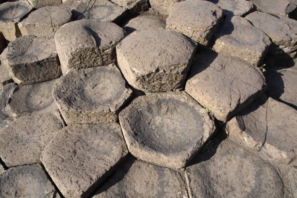Basalt stepping stones, Giant's Causeway, N. Ireland.:スマホ壁紙(壁紙.com)