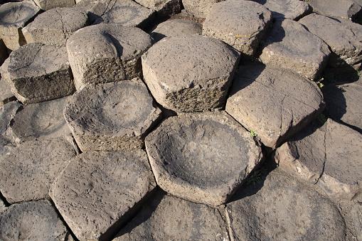 Basalt「Basalt stepping stones, Giant's Causeway, N. Ireland.」:スマホ壁紙(19)