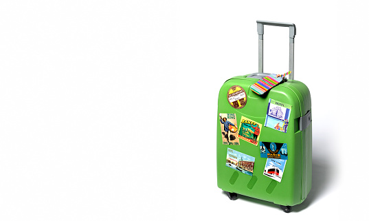 Tourism「Travel suitcase with travel stickers」:スマホ壁紙(15)