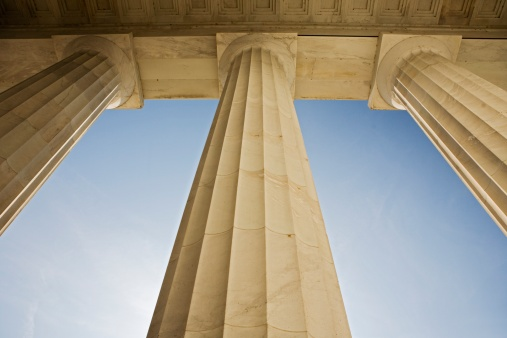 Politics「Doric columns at the Lincoln Memorial Washington DC USA」:スマホ壁紙(16)