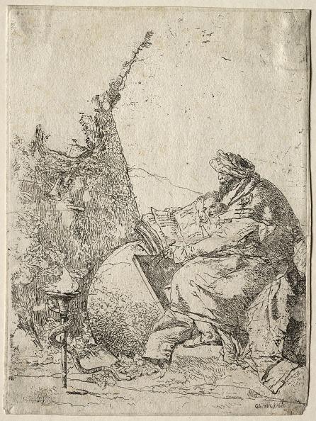 Etching「Fantasies: The Philosopher. Creator: Giovanni Battista Tiepolo (Italian」:写真・画像(10)[壁紙.com]